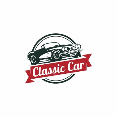 Fototapeta Classic Car Wektor szablonu
