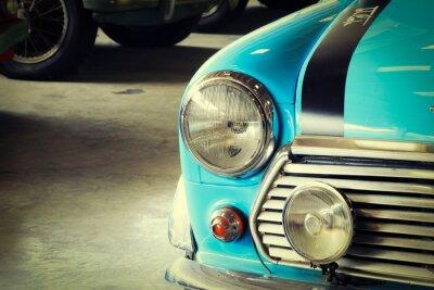 Fototapeta Close Up Front Soft Zielona rocznika samochodu