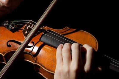 Fototapeta Close-up zdjęcie mężczyzna gra na skrzypcach