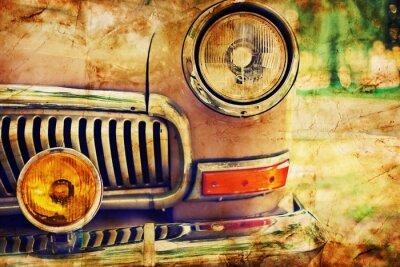 Fototapeta Close-up zdjęcie reflektorów samochodowych retro