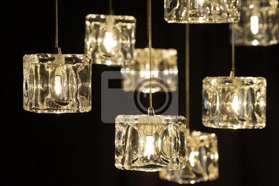 Fototapeta Closeup view of contemporary light fixture