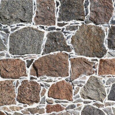Fototapeta Cobblestone fragment ściany tekstury