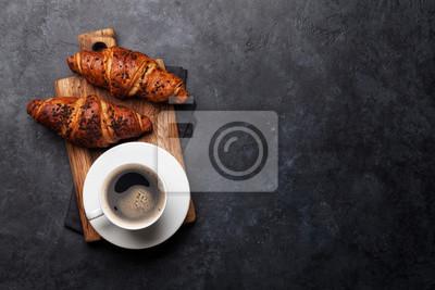 Fototapeta Coffee and croissant
