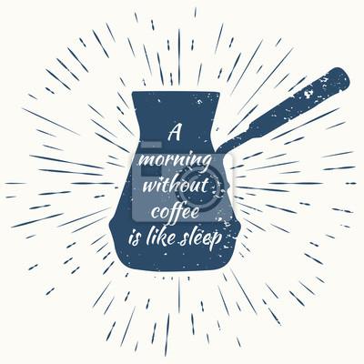 Poranek bez kawy