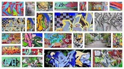 Fototapeta collage ... grafitti
