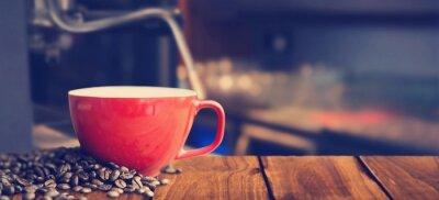 Fototapeta Composite obraz biały kubek kawy