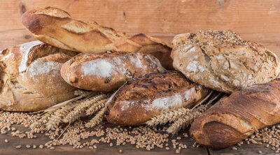 Fototapeta Composition of various breads