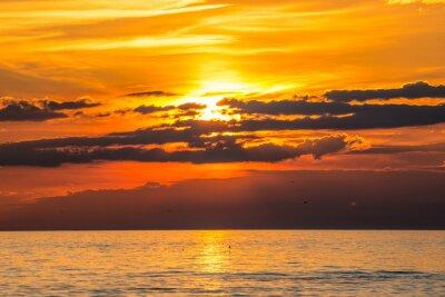 Fototapeta coucher de soleil à Audresselles