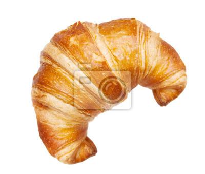 Fototapeta croissant izolowane na białym