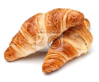 Fototapeta Croissant lub półksiężyca rolki na białym tle wycięcia