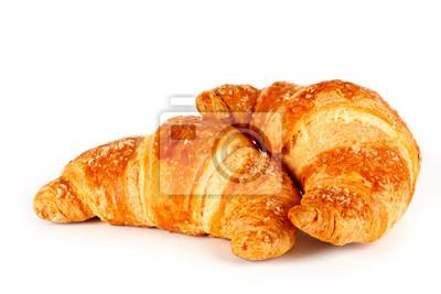 Fototapeta Croissant su sfondo bianco