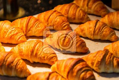 Fototapeta croissant w piekarni sklep dla tła.