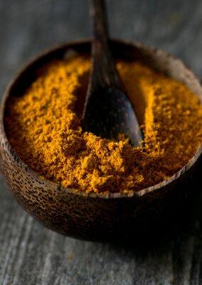Fototapeta curry na powierzchni drewnianych