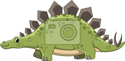 Fototapeta Cute cartoon dinozaur