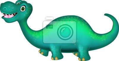Fototapeta cute cartoon dinozaur stwarzających