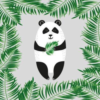 Fototapeta Cute panda bear. ilustracji wektorowych.