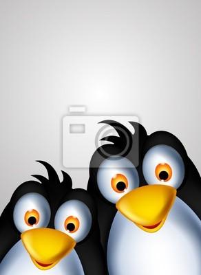 Fototapeta cute para pingwin kreskówki