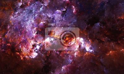 Fototapeta Cyfrowy abstrakcyjny obraz mgławicy galaktyka gwiazd w przestrzeni.
