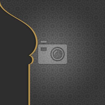 Fototapeta Czarne tło Arabian islamski