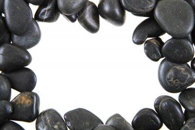 Fototapeta Czarne tło kamienie