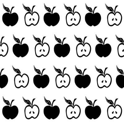 Fototapeta Czarno białe jabłko wzór