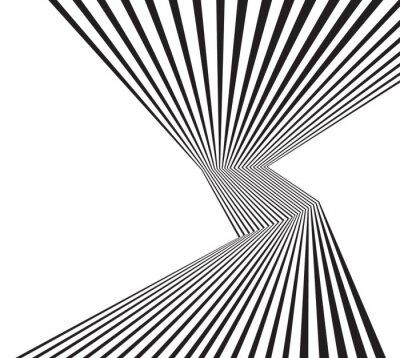 Fototapeta czarno-białe mobious fali optycznej abstrakcyjny wzór paskiem