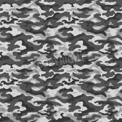 Fototapeta Czarno-biały kamuflaż z grunge efekt tła. Ilustracji wektorowych