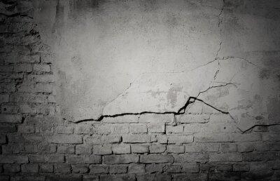 Fototapeta Czarny grunge wyblakły, pęknięty mur tekstury