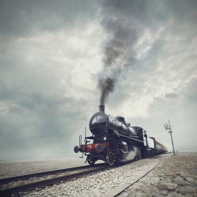 Fototapeta czarny pociąg