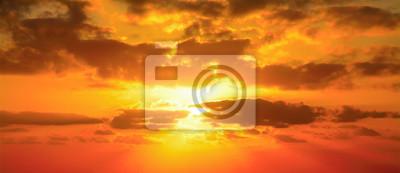Fototapeta czerwone niebo w Alghero
