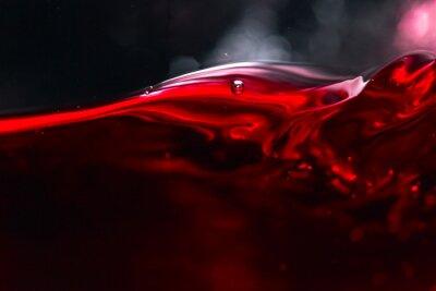 Fototapeta Czerwonego wina na czarnym tle