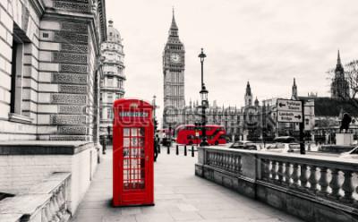 Fototapeta Czerwony budka telefoniczna w Londynie