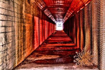 Fototapeta czerwony tunel