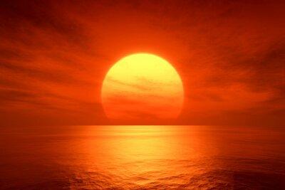 Fototapeta czerwony zachód słońca