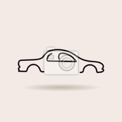 Fototapeta Części samochodowe ikony ustaw. Wektor narzędzia auto serwis naprawa