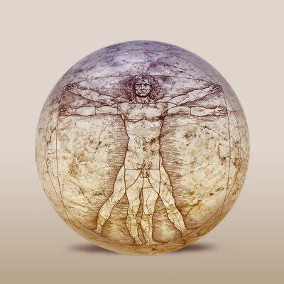 Fototapeta Człowiek witruwiański, Leonardo da Vinci