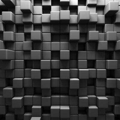 Fototapeta Dark Grey Cube Bloki tle ściany