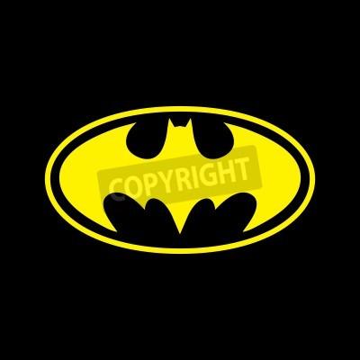Fototapeta DC comics superhero Batman logo yellow on black background