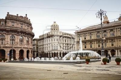 De Ferrari square w Genova, Włochy