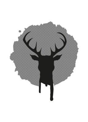 Fototapeta Deer head Graffiti