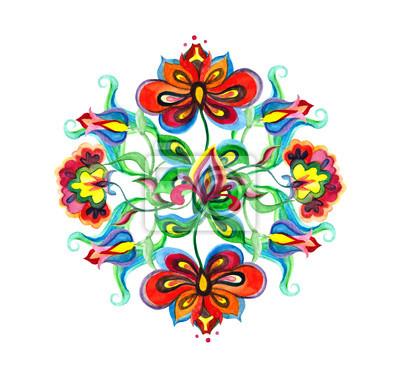 Fototapeta Dekoracyjna Sztuka Ludowa Europy Wschodniej Kompozycja Kwiatowa