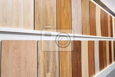 Fototapeta Dekoracyjne Panele Drewniane Na ścianach W Magazynie
