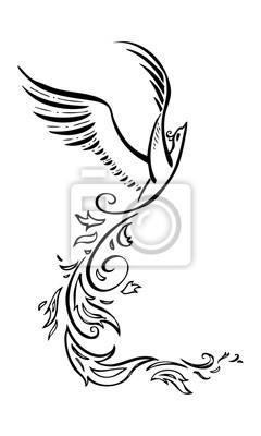 Fototapeta Dekoracyjne Phoenix Ptaka Wektor Tatuaż