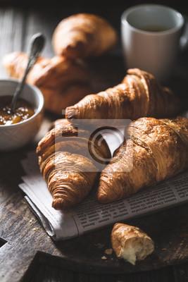 Fototapeta Délicieux croissants for le petit déjeuner