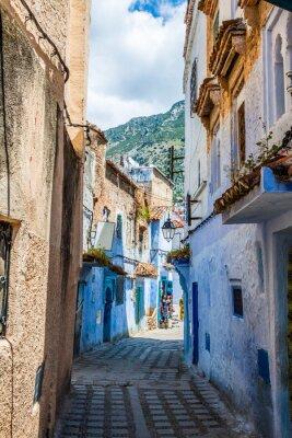 Fototapeta Detal architektoniczny w Chefchaouen, Maroko, Afryka