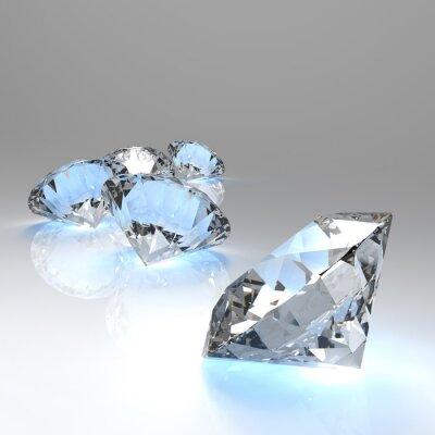 Fototapeta Diamenty 3D w składzie