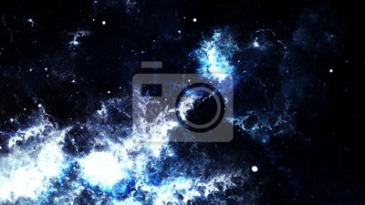 Fototapeta Digital streszczenie jasnych i kolorowe mgławice galaktyki i gwiazdy
