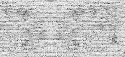 Fototapeta Długi biały mur z cegły