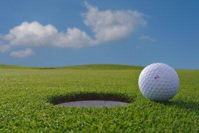 Fototapeta dołkowe pole golfowe i piłki