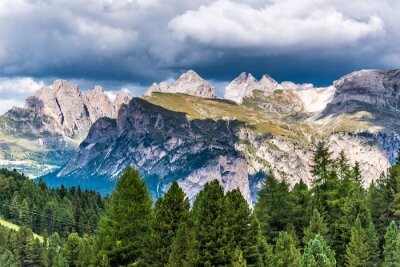 Fototapeta Dolomity - Val Gardena - Passo Sella